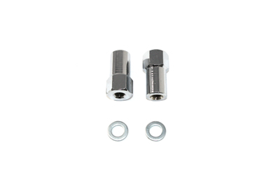 Chrome Axle Adjuster Nut Set