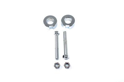 Chrome Rear Axle Adjuster Kit