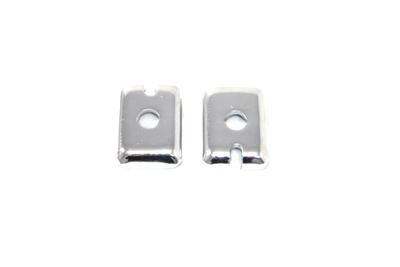Chrome Rear Axle Adjuster End Plate Set