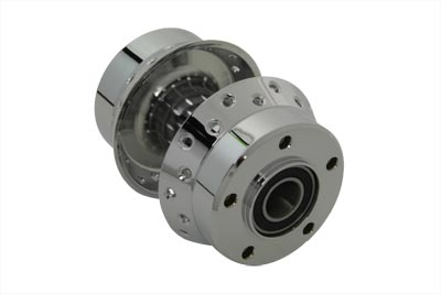 """Chrome Front Wheel Hub with 1"""" Bearings"""