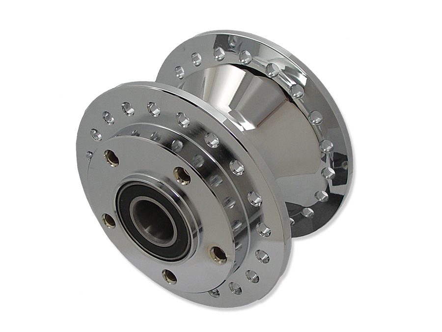 "Chrome Front Wheel Hub 1"" Bearings"