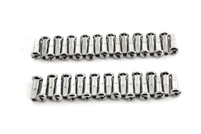 Spoke 40 Piece Chrome Nipple Set