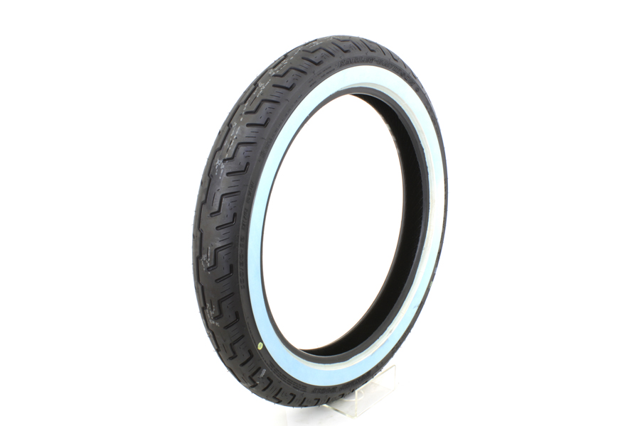 "Dunlop D401 100/90H X 19"" Front Wide Whitewall Tire"