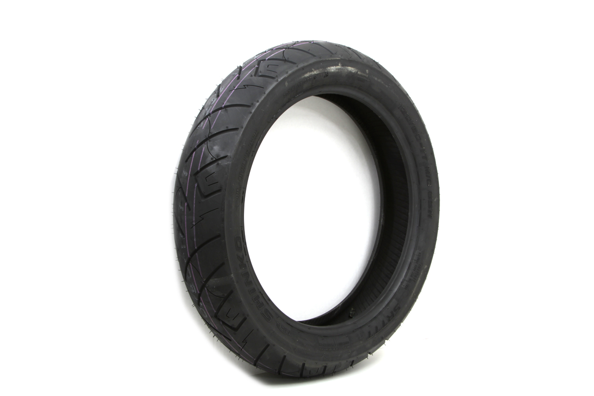"*UPDATE Shinko SR777 130/80H x 17"" Blackwall Front Tire"