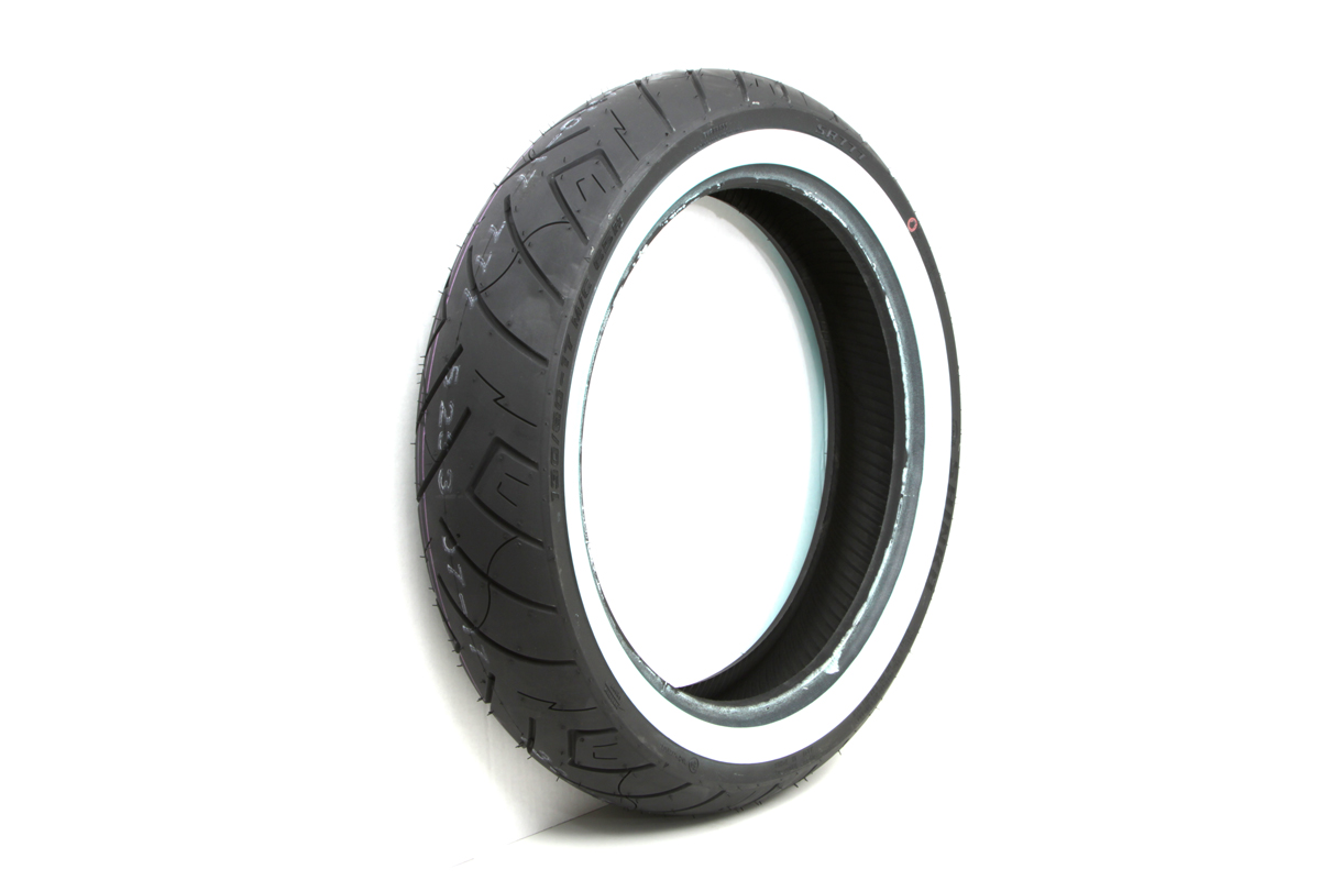 "Shinko SR777 130/80H x 17"" Whitewall Front Tire"