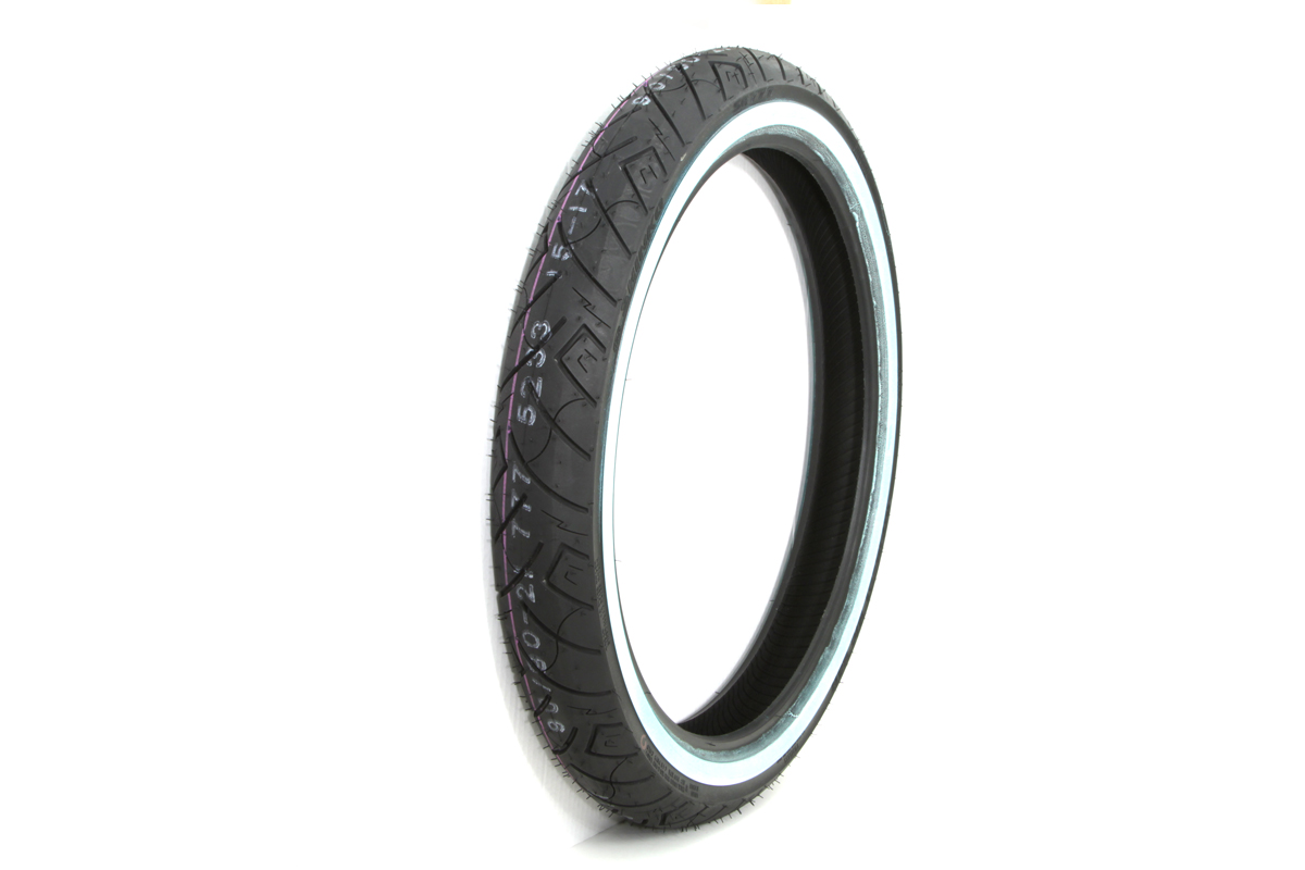 "*UPDATE Shinko SR777 90/90H x 21"" Whitewall Front Tire"