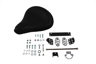 Black Leather Solo Seat With Mount Kit