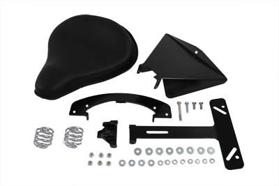 Black Leather Solo Seat Kit