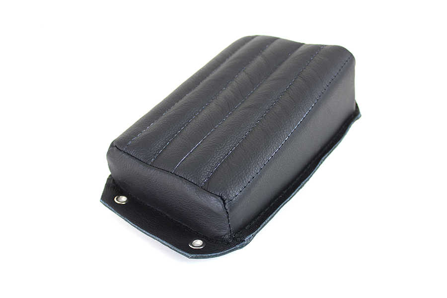 Bates Black Leather Pillion Pad
