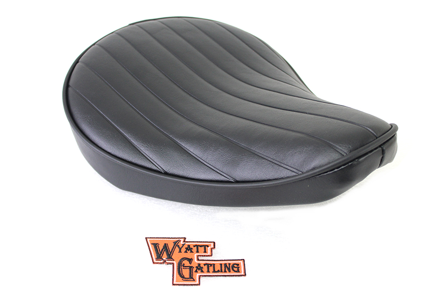 Black Tuck and Roll Solo Seat Small