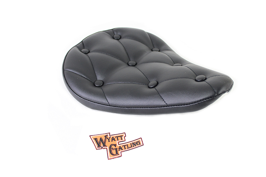Black Vinyl Solo Seat with Buttons
