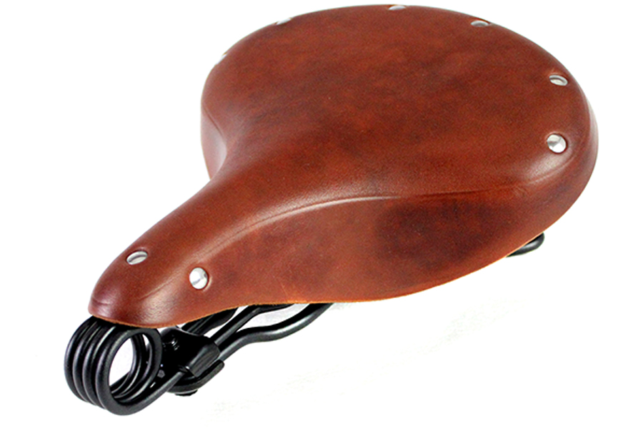 Double Steel Saddle Solo Seat Honey Brown