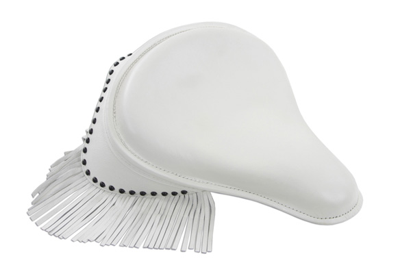 K Model Solo Seat with Fringe White
