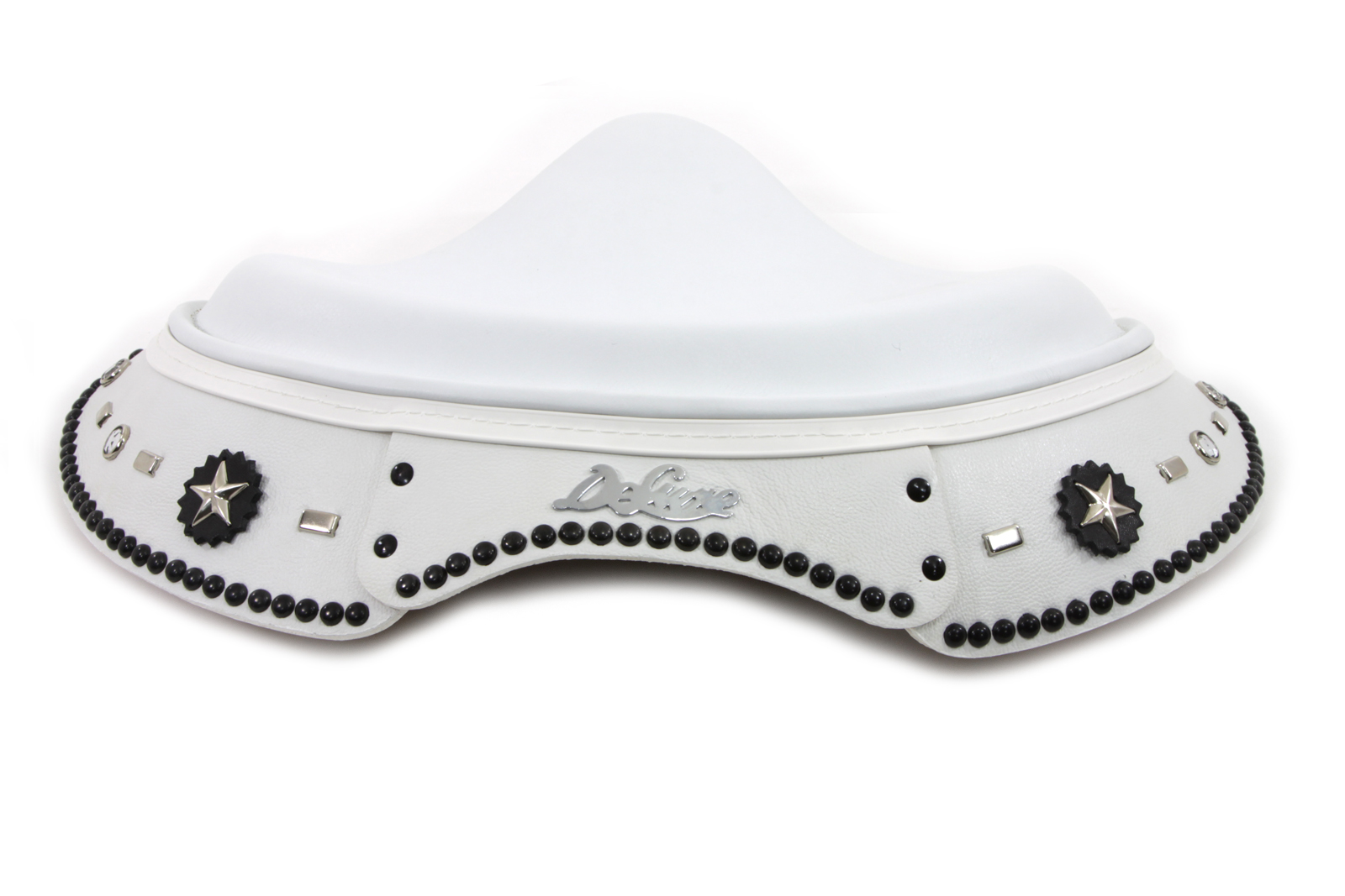 *UPDATE White Leather Deluxe Solo Seat with Skirt