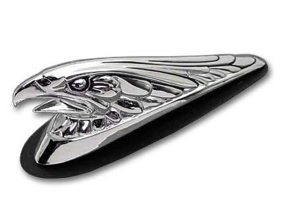 Eagle Front Fender Tip Ornament Chrome