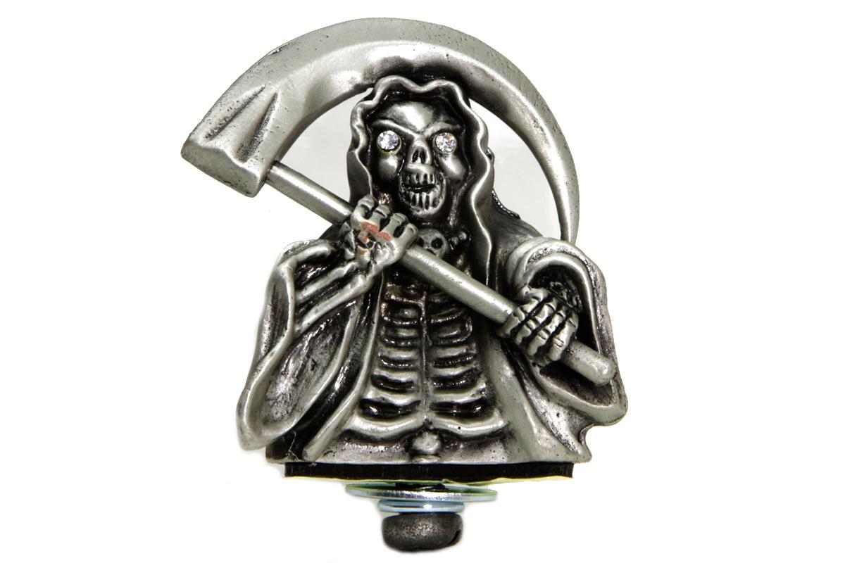 Grim Reaper Front Fender Top Ornament Silver