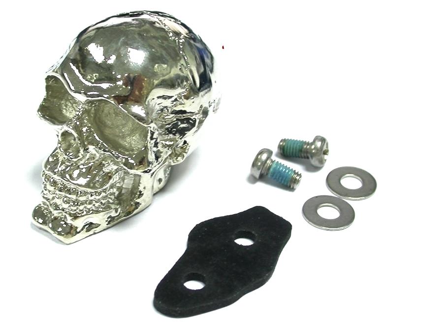 Chrome Skull Fender Ornament