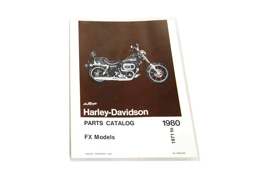 Factory Spare Parts Book for 1971-1980 FX