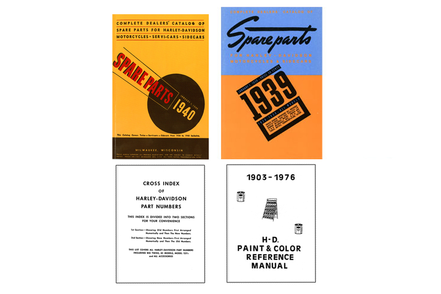 Spare Parts Book Set for 1936-40
