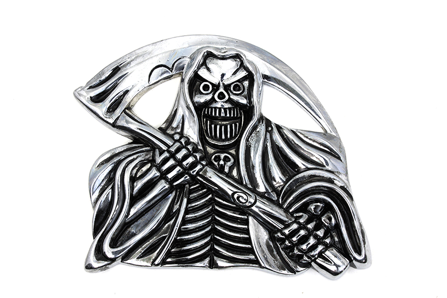 Pewter Grim Reaper with Sickle Emblem