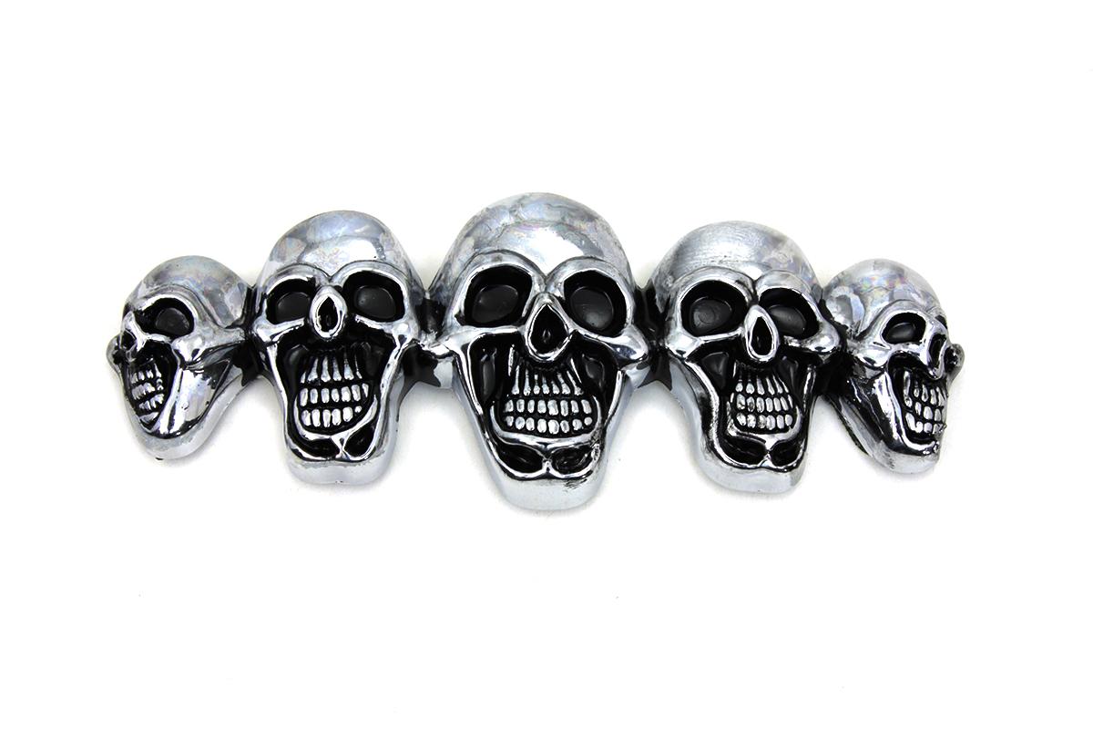 Pewter 5 Skull Emblem