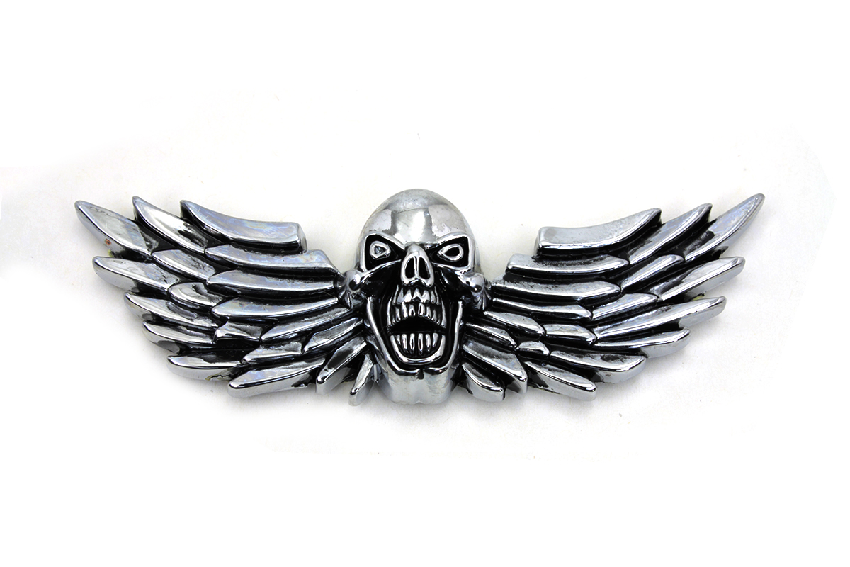 Pewter Winged Skull Emblem