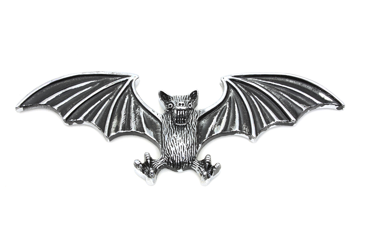 Pewter Bat Wing Emblem