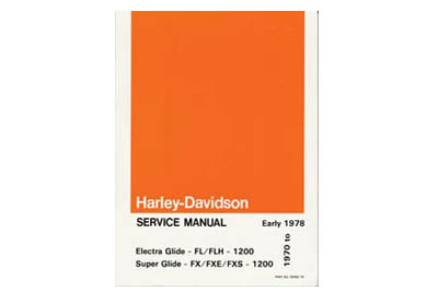 Factory Service Manual for 1970-1978 FL-FX