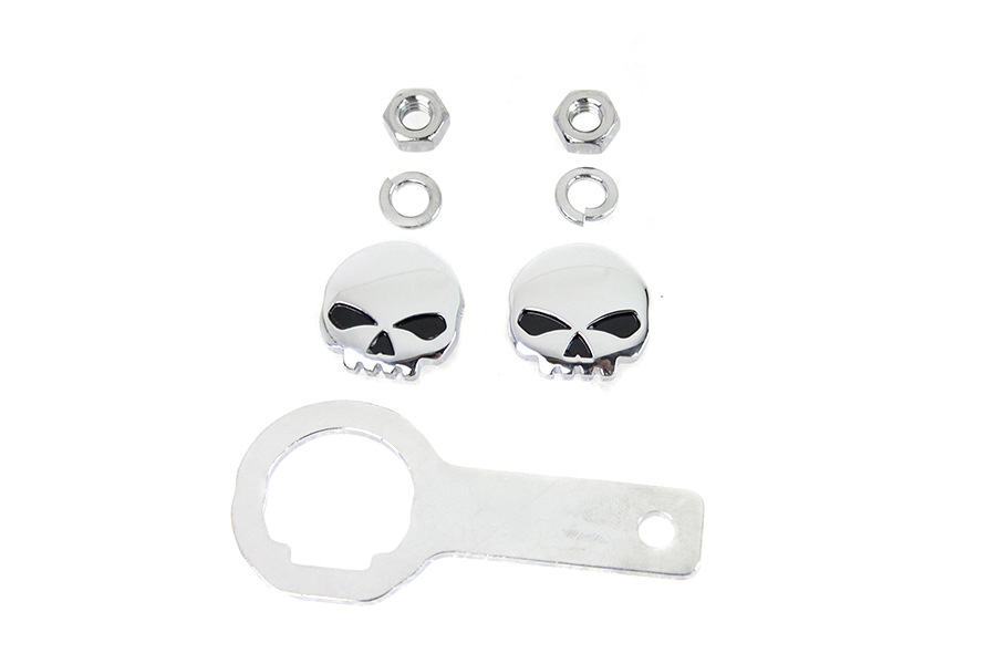 Skull License Plate Bolt Kit