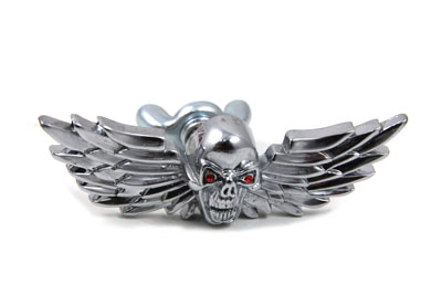 Skull with Wings Medallion Set