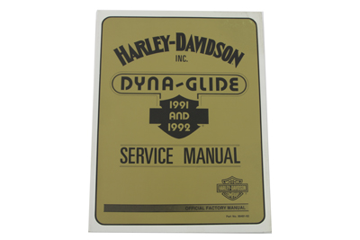 *UPDATE Factory Service Manual for All 1991-1992 Dyna Glide
