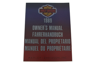 Factory Service Manual for 1989 Big Twin International