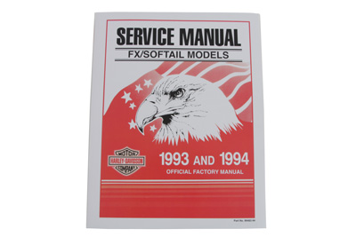 *UPDATE Factory Service Manual for 1993 FXST-FLST