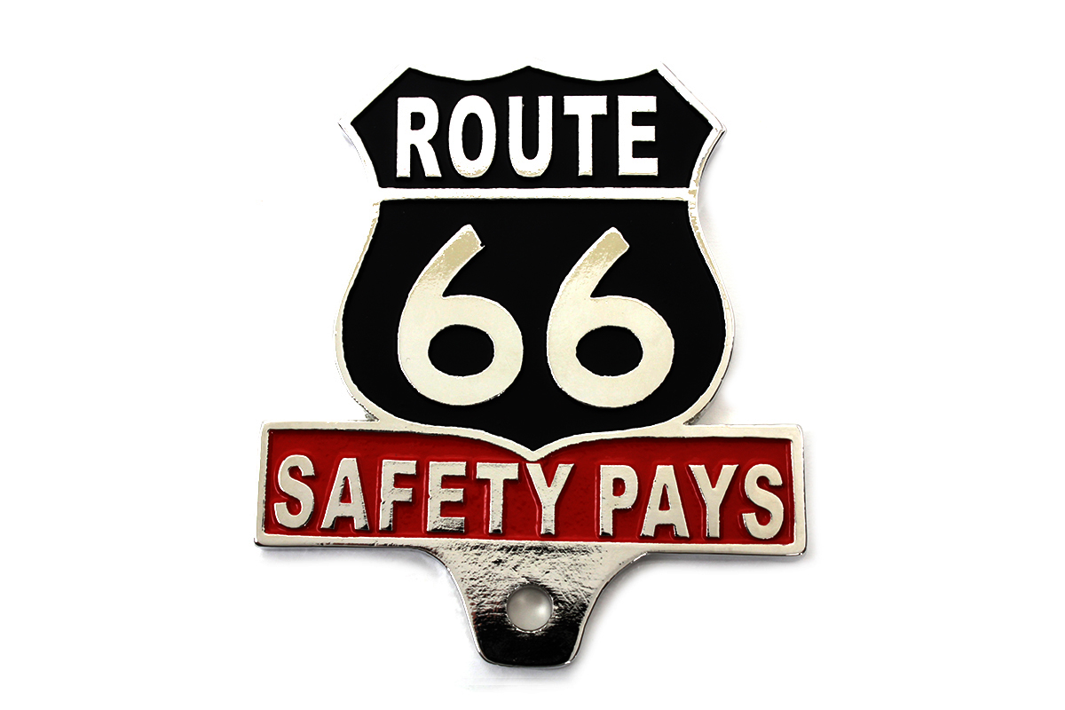 Route 66 License Plate Topper