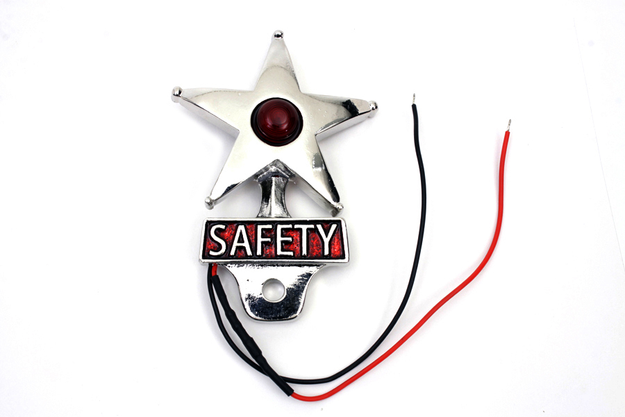 Safety License Plate Topper with LED Lamp