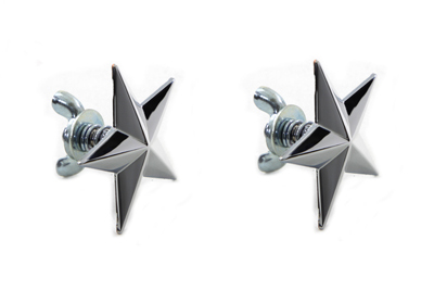 Chrome Decorative Star Stud Set