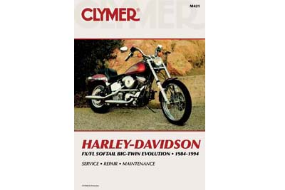 Clymer Repair Manual for 1984-1999 FXST-FLST