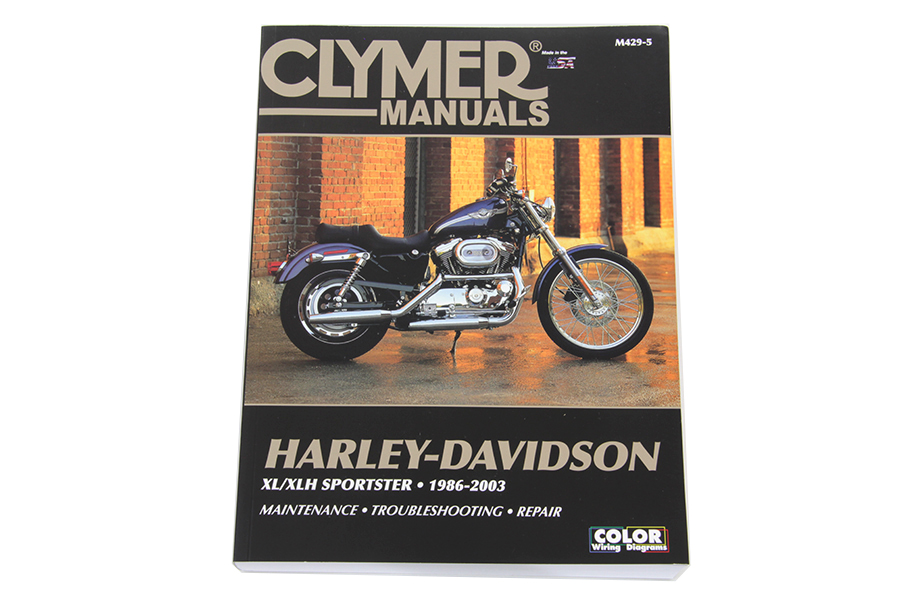 Vtwin Clymer Motorcycle Repair Manual 86-03 Harley Sportster XL XLH 883 1200