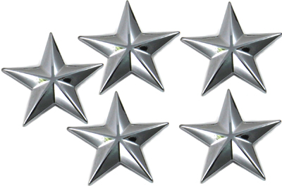 Chrome Decorative Star Studs