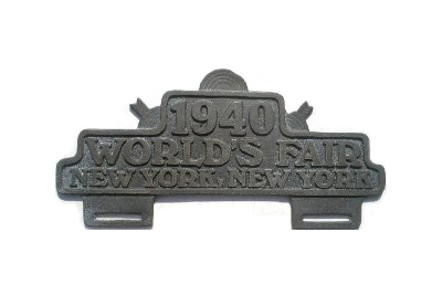 1940 World's Fair License Plate Topper