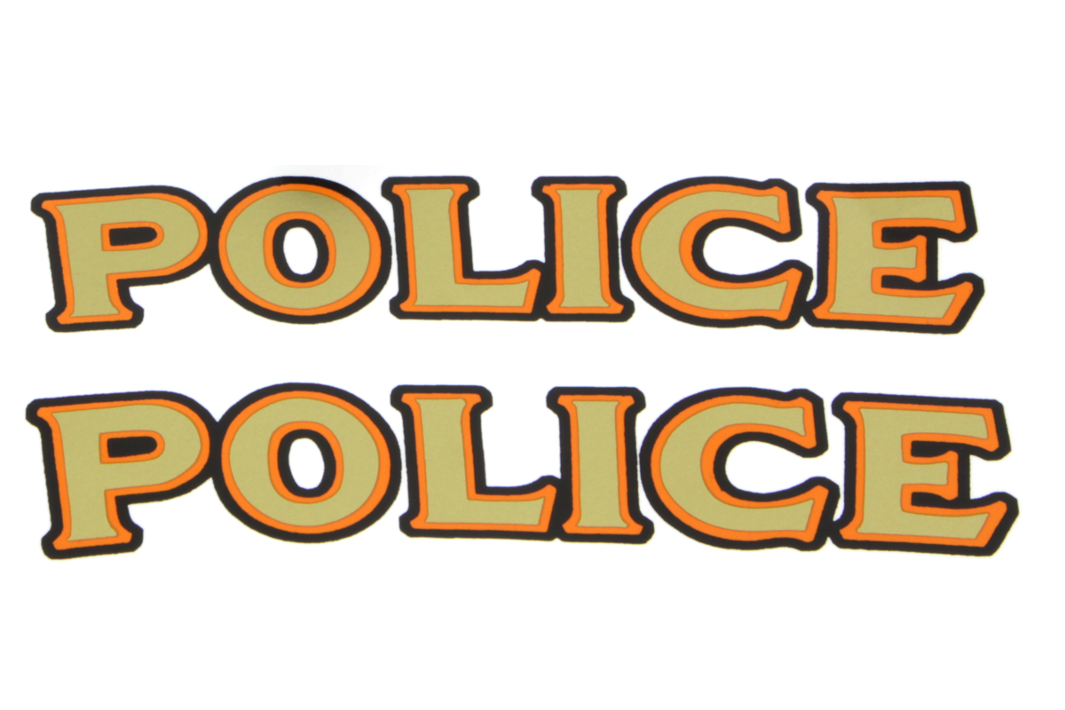 "Front Fender ""Police"" Decal Set"