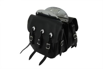 Replica Black Leather Saddlebag Set