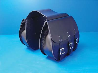 3 Buckle Thro-Over Saddlebags Black