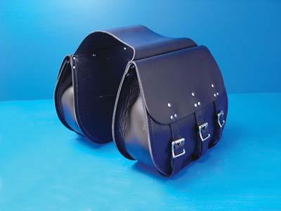 3 Buckle Thro-Over Saddlebags Black
