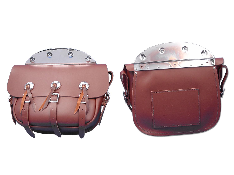 Brown Leather Replica Saddlebag Set