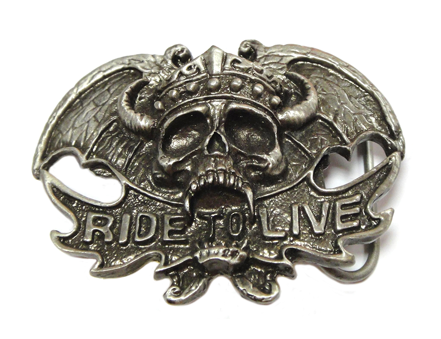 Ride To Live Belt Buckle