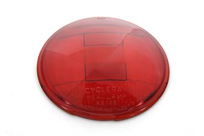 Replica Headlamp Glass Lens Red