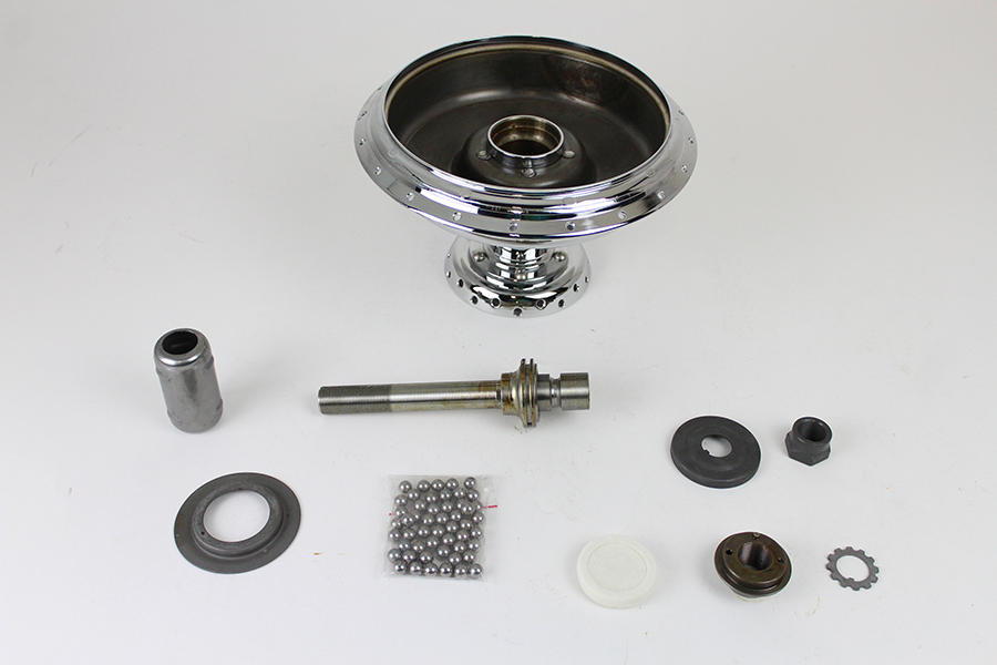 "45"" W Front Wheel Hub Assembly Chrome"