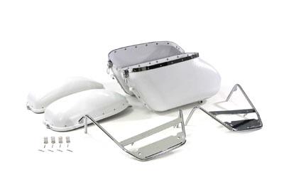 Replica Bubble Saddlebag Kit White