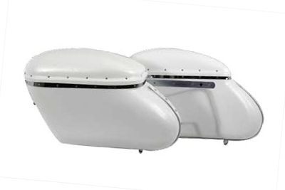 Replica Bubble Saddlebag Set White